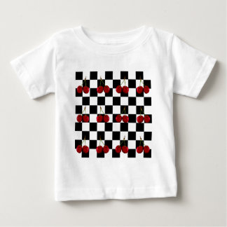 CHECKERED FLAG CHERRIES PATTERN BABY T-Shirt