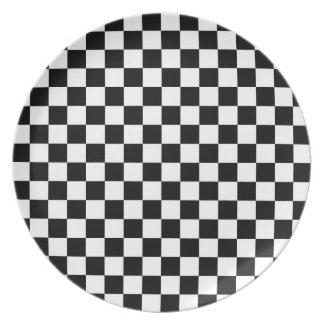 Checkered Flag Chess Checkers Board Checkerboard Plate