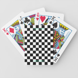 Checkered flag playing cards