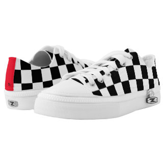 Checkered Flag Printed Shoes