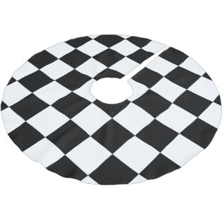 Checkered Flag Racing Pattern Brushed Polyester Tree Skirt