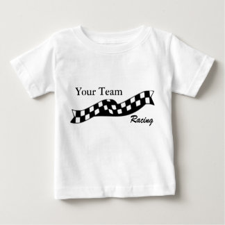 Checkered Flag Swoop Race Team Infant Shirt