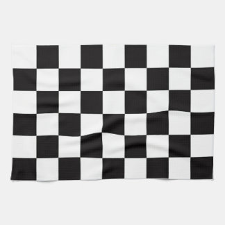 Checkered Flag Tea Towel