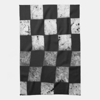 Checkered Flag Tea Towel