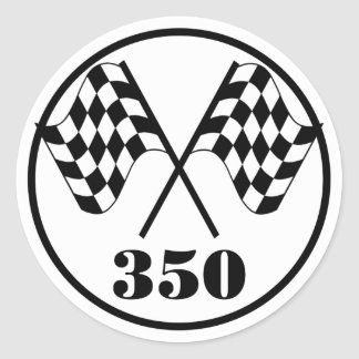 Checkered Flags Classic Round Sticker