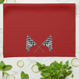 Checkered Flags Tea Towel