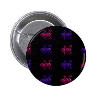 Checkered Flamingo Button