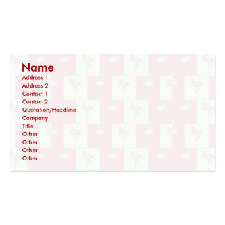 Checkered flamingos pattern business cards