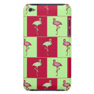 Checkered flamingos pattern barely there iPod cover