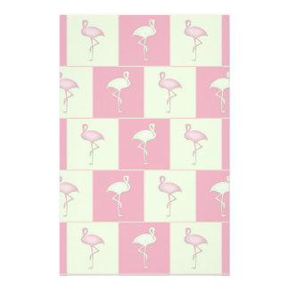 Checkered flamingos pattern personalized stationery