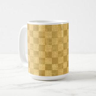 Checkered Golden 15 oz Mug