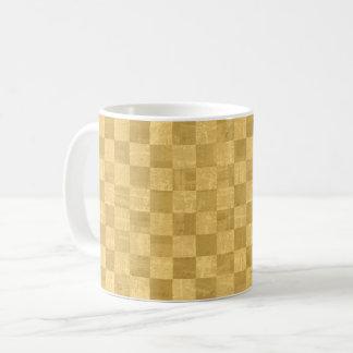 Checkered Golden Mug