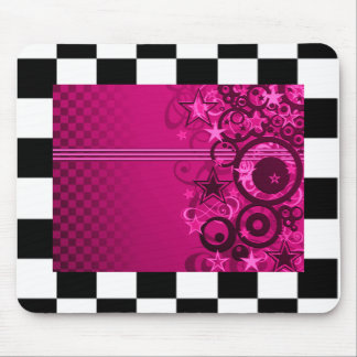 Checkered Graphic Star Mousepad