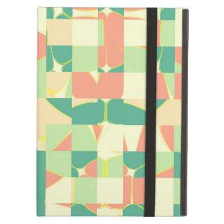 Checkered green and salmon iPad air case