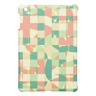 Checkered green and salmon iPad mini cases