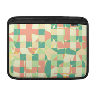 Checkered green and salmon MacBook air sleeves