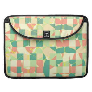 Checkered green and salmon MacBook pro sleeves