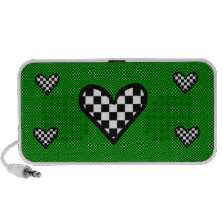 Checkered Hearts on Green speaker