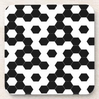 Checkered hexagons coaster