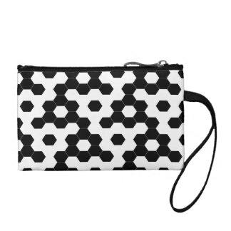 Checkered hexagons coin purse