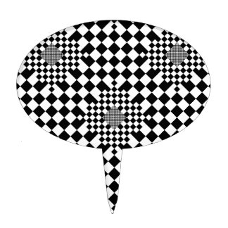 Checkered Illusion by Kenneth Yoncich Cake Toppers
