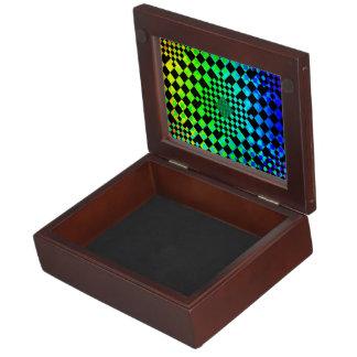 Checkered Illusion Memory Box