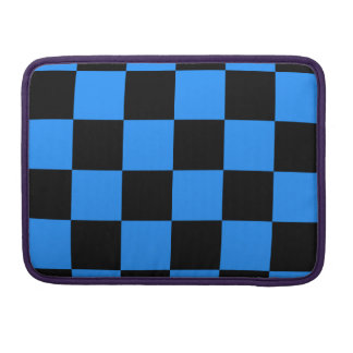 Checkered Large - Black and Blue Sleeves For MacBook Pro
