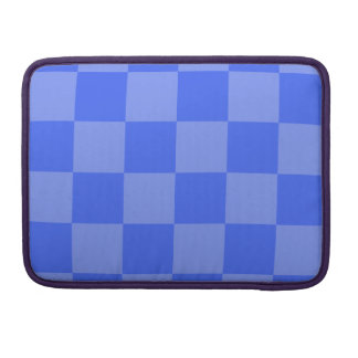Checkered Large - Blue and Light Blue Sleeve For MacBooks