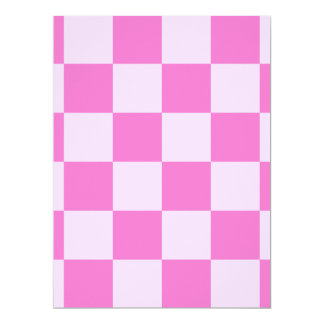 Checkered Large - Light Pink and Dark Pink Card