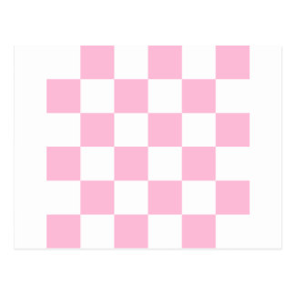 Checkered Large - White and Cotton Candy Postcard