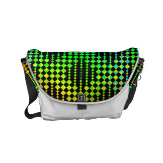 Checkered Lattice Fence by Kenneth Yoncich Courier Bags
