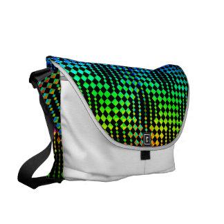 Checkered Lattice Fence Commuter Bag