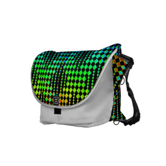 Checkered Lattice Fence Commuter Bags