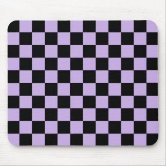 Checkered Lavender and Black Mouse Pad