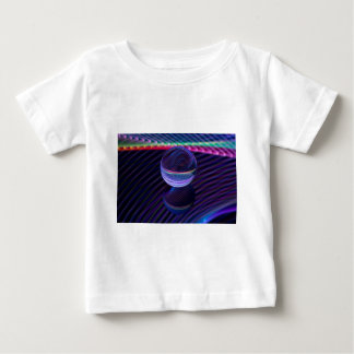 Checkered lines in the glass ball baby T-Shirt