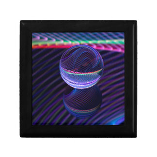 Checkered lines in the glass ball gift box