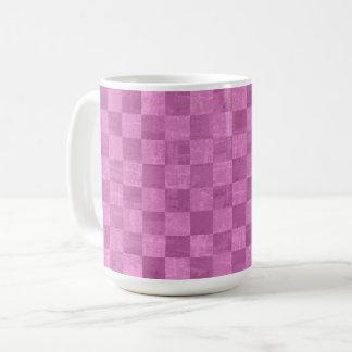 Checkered Magenta 15 oz Mug