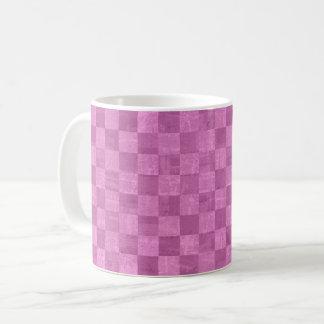 Checkered Magenta Mug