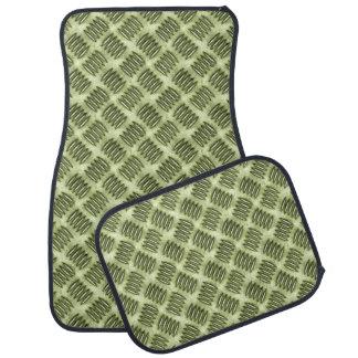 Checkered Metal Steel Flooring Diagonal Texture Car Mat