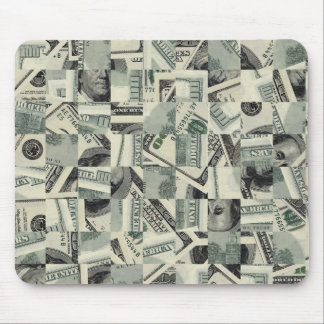 Checkered Money Mouse Pad