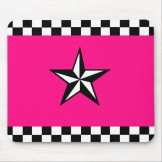 Checkered Nautical Star Mousepad
