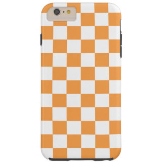 Checkered Orange Tile Design. Tough iPhone 6 Plus Case
