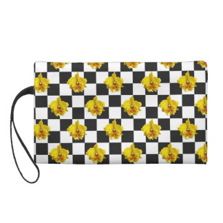 Checkered Orchid by Strawberry Blonde Wristlet Purses
