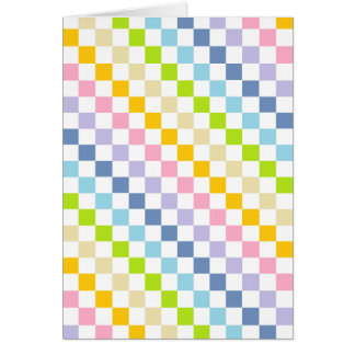 Checkered Pastel Rainbow Greeting Card