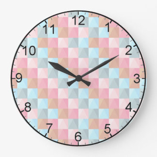 Checkered Pastel Wall Clock