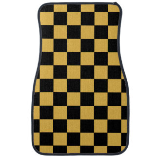 Checkered Pattern | DIY Background Color Car Mat
