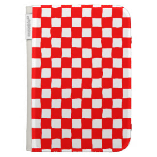 checkered pattern red kindle 3 covers