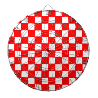 checkered pattern red Dartboard