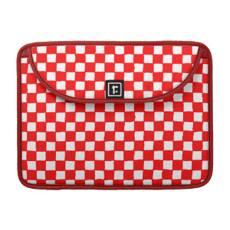 checkered pattern (red) MacBook pro sleeve