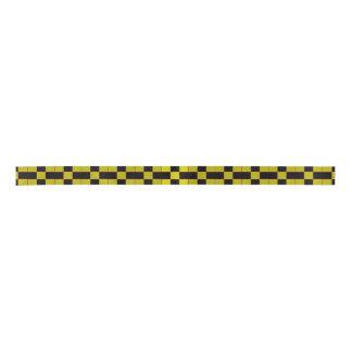 Checkered Pattern Satin Ribbon
